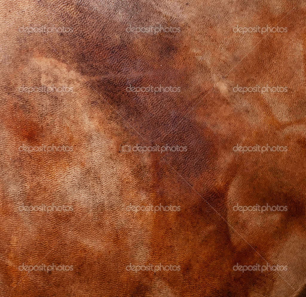 Natural qualitative leather with stains. Texture. Closeup  Stock Photo #8644856