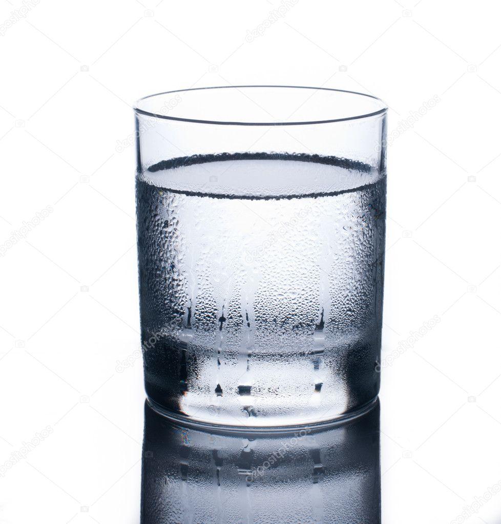 Glass of cold water — Stock Photo © nickvelichko #8739511