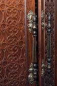 Old door's handles — Zdjęcie stockowe