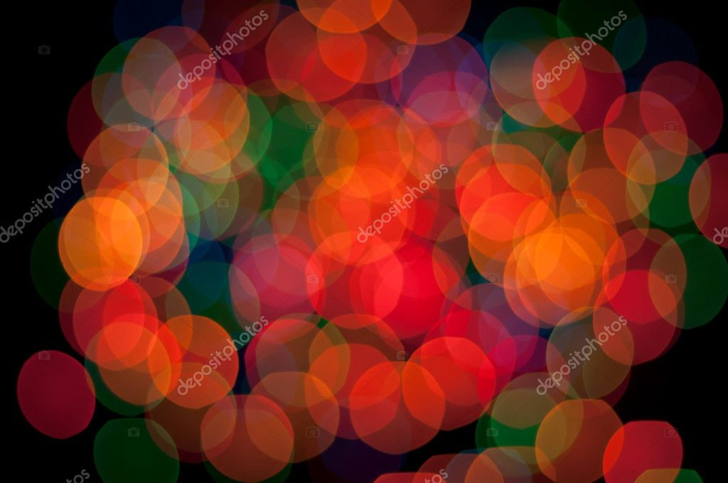 Blurry pattern of colorful decoration lights — Stok fotoğraf #9209667