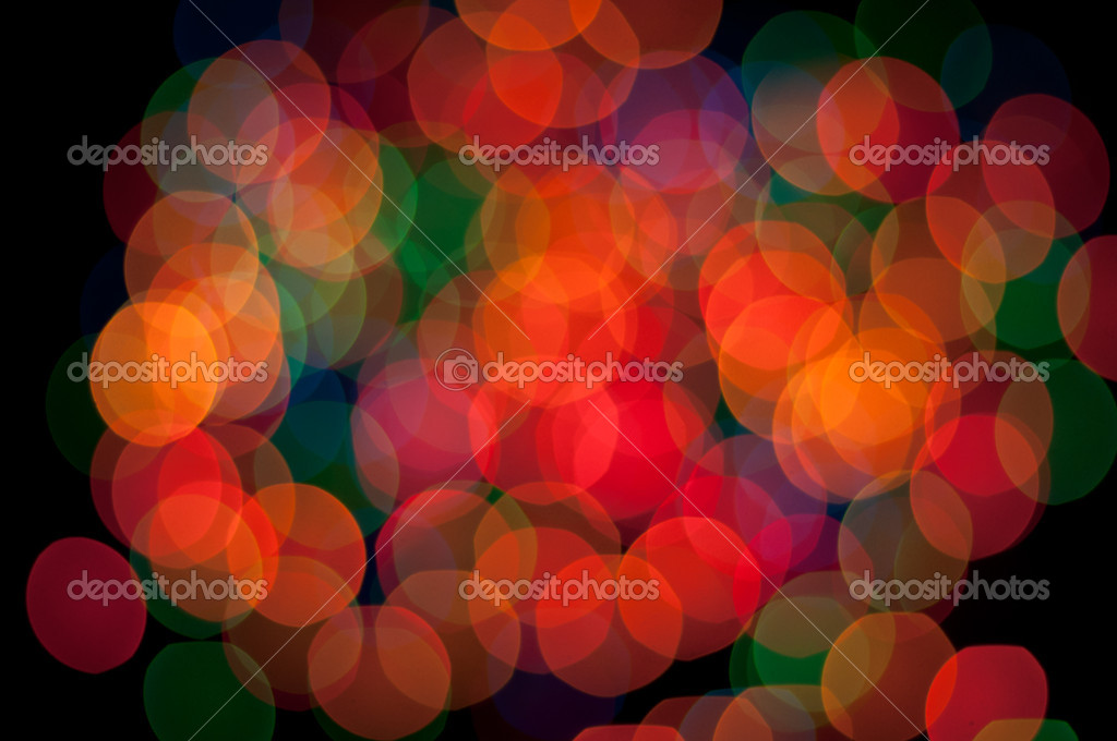 Blurry pattern of colorful decoration lights  Stock Photo #9209667