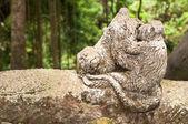 Monkey's Statue — 图库照片