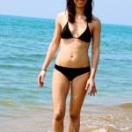 Woman in bikini on sea — Stock Photo #9716411