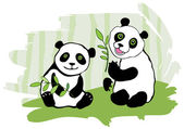 Two pandas. — Stock Vector