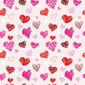 Love pattern vector texture. — Stock Vector