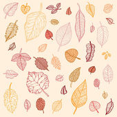 Autumn leaves set — Stock Vector