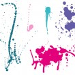Ink splashes Color — Stock Vector