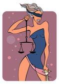 Zodiac girls. Libra. — Stock Vector