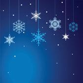 Conjunto de vetores de fundo de flocos de neve. — Vetorial Stock