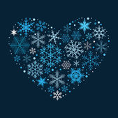 Heart of the Snowflakes. — Stock Vector