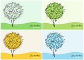 Abstract Vector trees. Four Season — Stock Vector