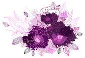 Sfondo floreale di disegno a mano — Vettoriale Stock