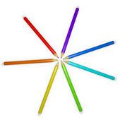 Карандаши цветные X 3 — Стоковое фото