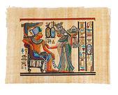 Modern Egyptian parchment copy — Stock Photo