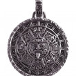 Pendant engraved with the Mayan calendar - Stock Photo