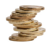 Small pile of copper coins — Stock Photo