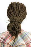 Young girl with hair in a dreadlocks — Stock Photo