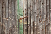 The old rotten gate — Stock Photo