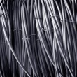 Telephone cable gray color — Stock Photo
