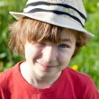 Stock Photo: Ruffled boy in hat