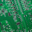 Stock Photo: Fragment of circuit board