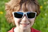 Disheveled guy wearing sunglasses — Stock Photo