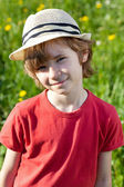 The fair-haired boy — Stock Photo