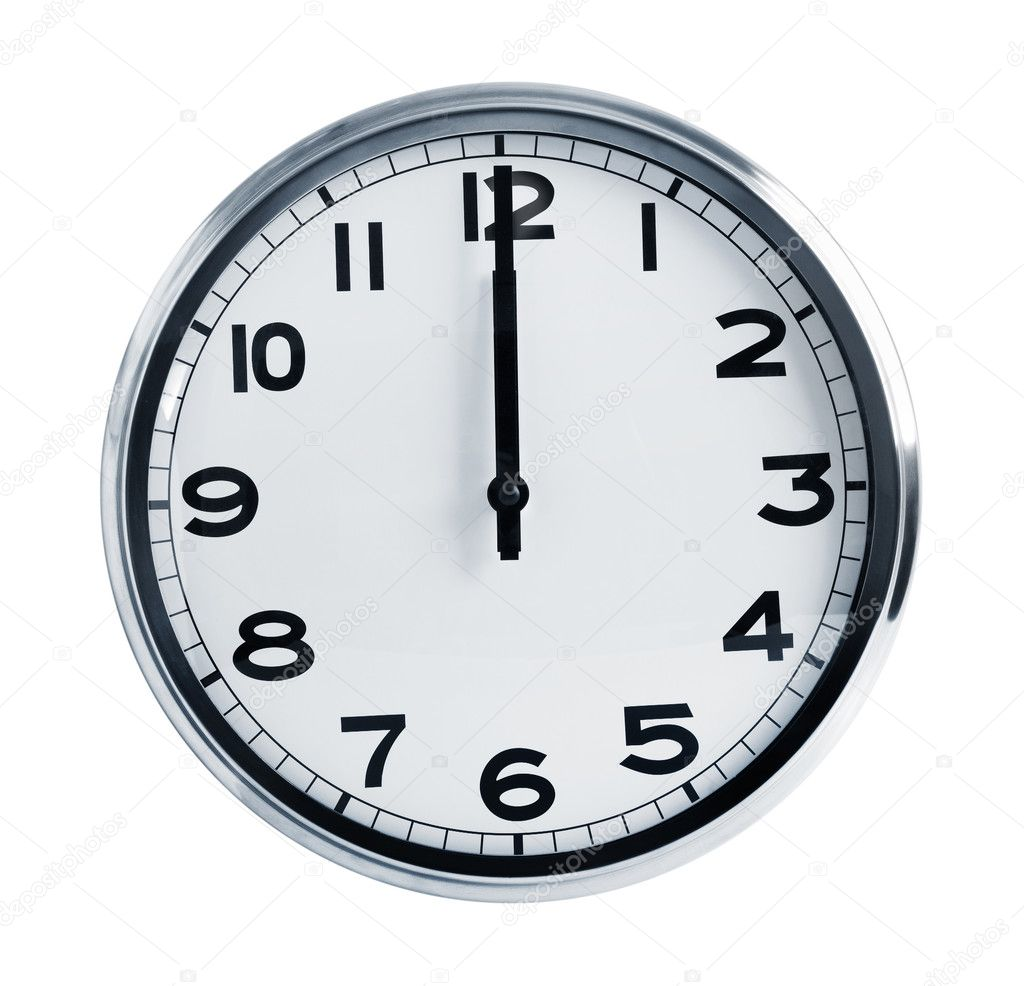 horloge de bureau murale montrant midi photographie dimedrol68 10647704. Black Bedroom Furniture Sets. Home Design Ideas