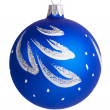 New Year's decorations - painted blue glass bowl — Stock Photo