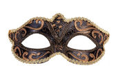 The original festive carnival mask gold — Stock Photo