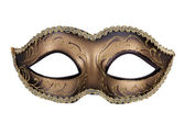 Decorative carnival mask black and gold — Stock Photo