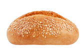 The little red-cheeked French bun with sesame seeds — Stock Photo