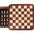 Board with a little pocket chess — Photo
