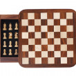 Board with a little pocket chess — ストック写真