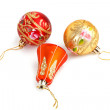 Three elegant Christmas decorations — Stock Photo