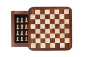 Board with a little pocket chess — Stock Photo