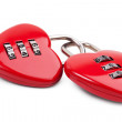 Two linked to each other in the form of the castle of hearts — Stock Photo