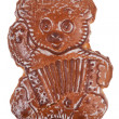 Gingerbread in the shape of a bear — 图库照片