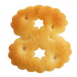 Cookies crackers in a figure eight - ストック写真