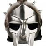 Iron Roman legionary helmet — Stock Photo