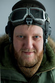 Young polar pilot — Stock Photo