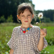 Girl with dandelion — Stock Photo #8958881