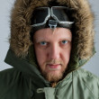 Stockfoto: Polar in green jacket