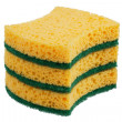 Stack of sponges for washing dishes — Stock Photo