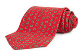 Rolled red tie — Stock Photo