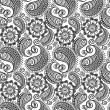 Seamless elegant paisley pattern — Stock Vector