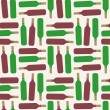 Seamless bottle pattern — Stock Vector