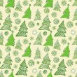 Royalty-Free Stock Vector Image: Seamless pattern of christmas trees