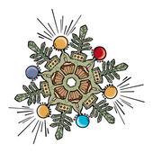 Christmas snowflake design — Stock Vector