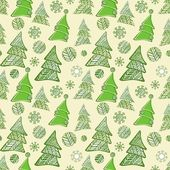 Seamless pattern of christmas trees — Stock Vector
